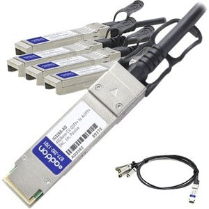 AddOn HP JG329A Compatible TAA Compliant 40GBase-CU QSFP+ to 4xSFP+ Direct Attac