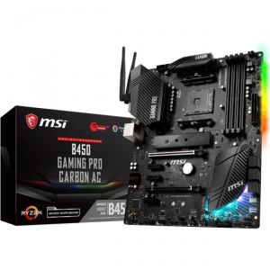 MSI Motherboard B450GPCARBAC B450 GAMING PRO CARBON AC AMD RYZEN AM4 B450 64G DR4 HDMI/DP Retail