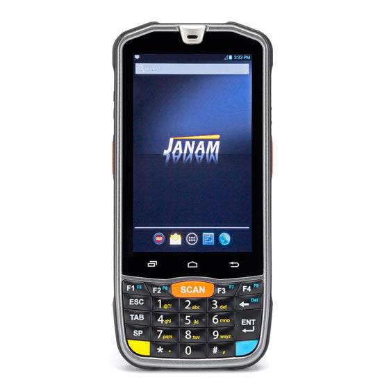 JANAM, XM75, ANDROID 6.X (GMS), 2D IMAGER, NUMERIC KEYPAD, GSM/LTE, 802.11A/B/G/N, BLUETOOTH, NFC, CAMERA, 2GB/16GB, AC ADAPTER, STD BATTERY