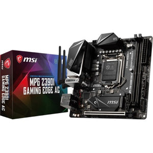 MSI Motherboard Z390IEDGEAC MPG Z390I GAMING EDGE AC LGA1151 Core 9000 32GB DDR4 HDMI DisplayPort Mini-ITX Retail
