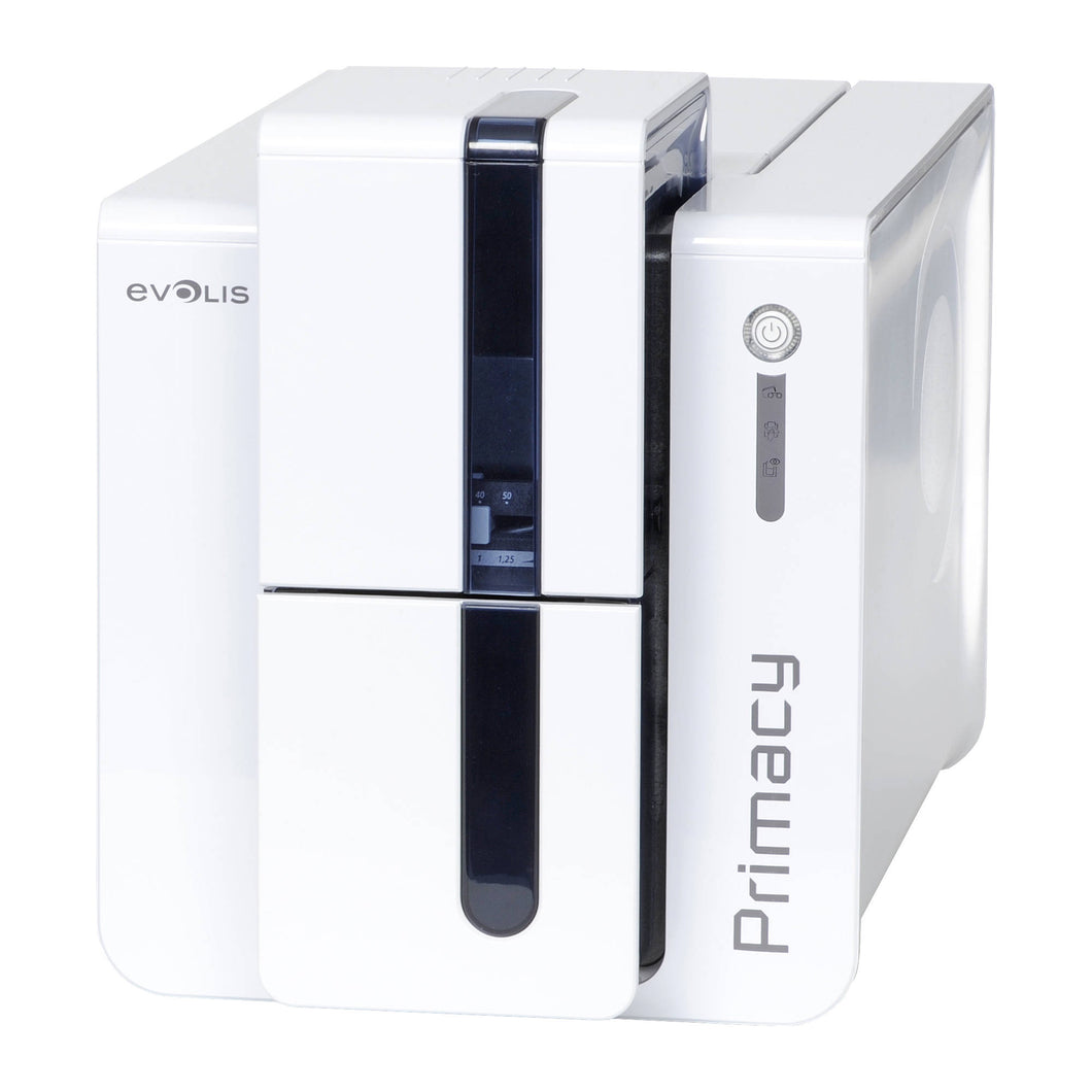 EVOLIS, CARD PRINTER, PRIMACY DUPLEX EXPERT MAG ISO - BRILLIANT BLUEPRINTER WITH MAG ISO DUAL HICO/LOCO 3-TRACK MAGNETIC STRIPE ENCODER, USB & ETHERNET