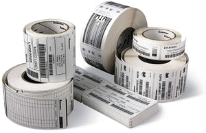 "HONEYWELL-INTERMEC MEDIA, CONSUMABLES, DURATRAN II TOP-COATED LABEL, THERMAL TRANSFER, 4"" X 1"", 3"" CORE, 8.38"" OD, 5333 LABELS PER ROLL, PERFORATED, 8 ROLLS PER CASE, PRICED PER CASE"