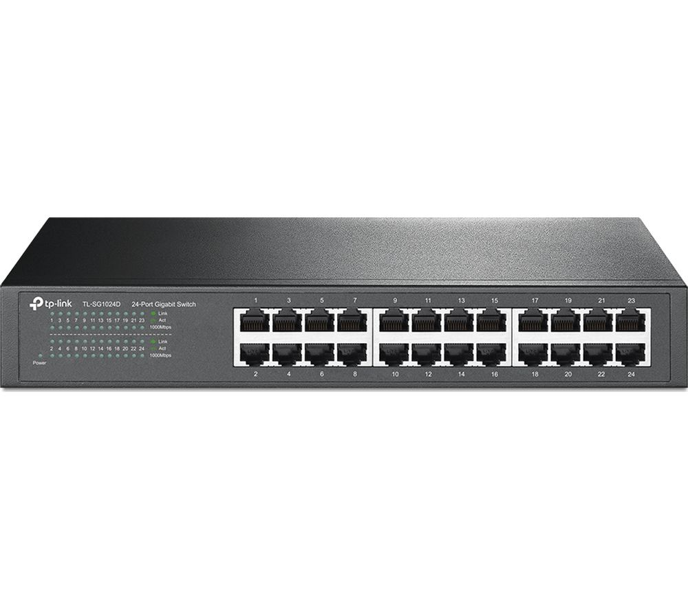 TP-Link Network TL-SG1024D 24 Port Gigabit Desktop Switch 10/100/1000M Retail