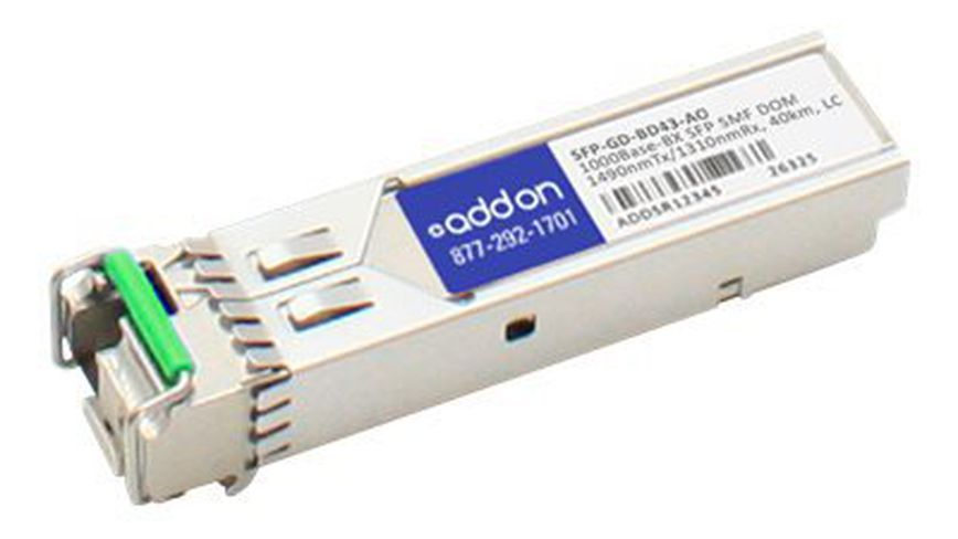 AddOn MRV SFP-GD-BD43 Compatible TAA Compliant 1000Base-BX SFP Transceiver (SMF,