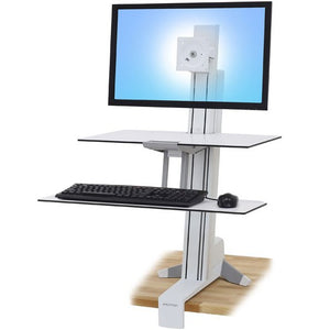 WorkFit-S, Single HD with Worksurface+ (white)
