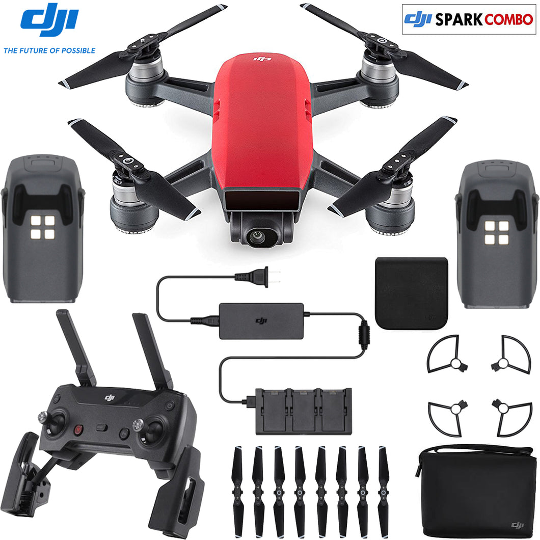 DJI Drone CP.PT.000901 SPARK FlyMore Combo-Lava Red Retail