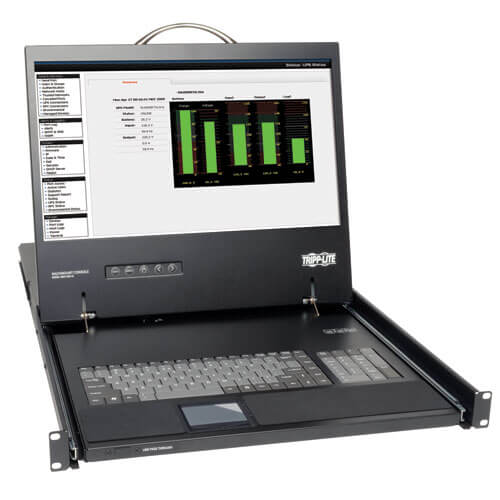1U RACKMOUNT KVM CONSOLE WITH