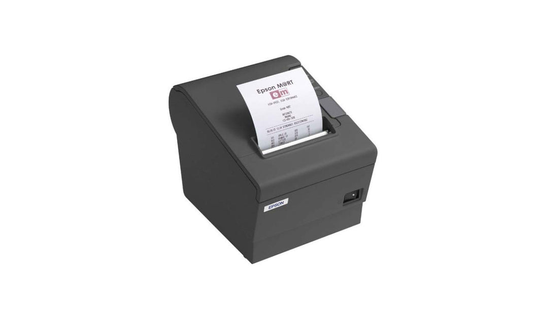 EPSON, TM-T88IV RESTICK, 58MM, THERMAL RECEIPT PRINTER, ETHERNET (UB-E04) INTERFACE, EPSON DARK GRAY, PS-180 INCLUDED, EOL, WHILE SUPPLIES LAST