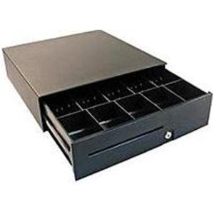 APG, S100, HEAVY DUTY CASH DRAWER, USBPRO, BLACK, 16X16, ADJUSTABLE DUAL MEDIA SLOTS, FIXED 5X5 TILL, CABLE INCLUDED