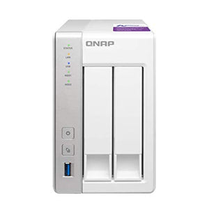QNAP Network Attached Storage TS-231P-US 2 Bay ARM Cortex A15 Dual Core 1GB SATA 6Gb/s USB3.0 HDD Hot-Swappable