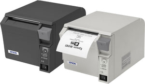 EPSON, TM-T70II, FRONT LOADING THERMAL RECEIPT PRINTER, MPOS, WIFI (UB-R04) AND USB, EPSON DARK GRAY, POWER SUPPLY INCLUDED, REQ CABLE