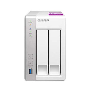 QNAP Network Attached Storage TS-231P2-1G-US 2Bay 1.7Ghz 1GB SATA 6Gb/s HDD Hot-swappable with DLNA Personal Cloud Retail