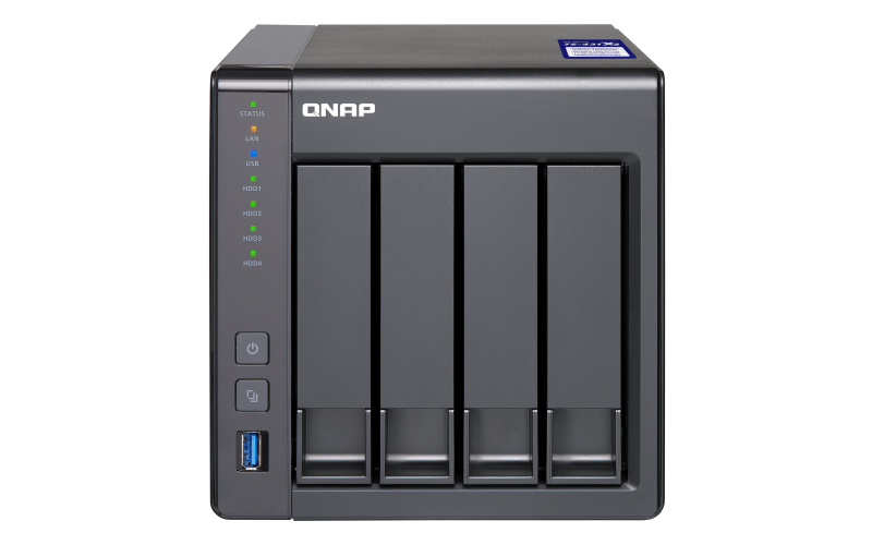 QNAP Network Attached Storage TS-431X2-2G-US 4Bay ARM Cortex-A15 Quad Core 1.7GHz 2GB 1x10GbE SFP+ Retail