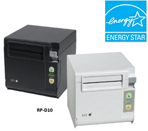 SEIKO, RP-D10 BLACK PRINTER WITH POWERED USB INTERFACE, TOP OR FRONT EXIT, 80MM PAPER WIDTH, 200MM/SEC PRINT SPEED WITH AC CORD AND INTERFACE CABLE