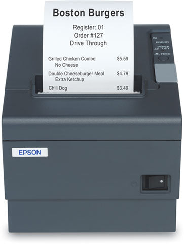 EPSON, TM-T88 RESTICK, 58MM, THERMAL RECEIPT PRINTER, USB INTERFACE, EPSON DARK GRAY, 2 COLOR CAPABLE, PS-180 INCLUDED, EOL