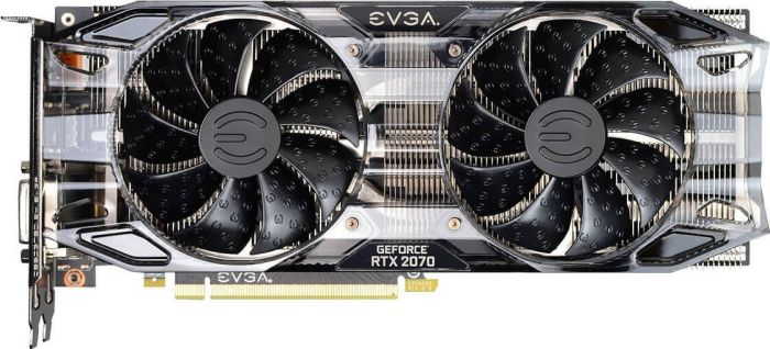 EVGA Video Card 08G-P4-1071-KR GeForce RTX 2070 Black Gaming 8GB GDDR6 HDB Fan and RGB LED Retail