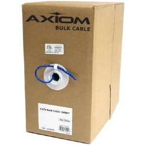 Axiom CAT5e 24AWG 4-Pair Solid 350MHz Plenum Bulk Cable Spool 1000FT (Red)