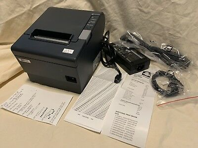 EPSON, TM-T88 RESTICK, 80MM, THERMAL RECEIPT PRINTER, USB INTERFACE, EPSON DARK GRAY, 2 COLOR CAPABLE, PS-180 INCLUDED, EOL, WHILE SUPPLIES LAST