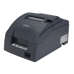EPSON, TM-U220B, DOT MATRIX RECEIPT PRINTER, ETHERNET (E04), MPOS, DHCP ENABLED, EPSON DARK GRAY, AUTOCUTTER,  ADAPTER C POWER SUPPLY INCLUDED