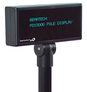 BEMATECH, POLE DISPLAY,5MM 2X20 RS232, CONFIGURABLE COMMAND SET- BLACK