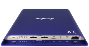 BRIGHTSIGN, TRUE 4K, DUAL VIDEO DECODE, ENTERPRISE HTML5 PLAYER WITH EXPANDED I/O PACKAGE, POE+ AND LIVE TV