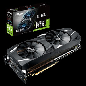 ASUS Video Card DUAL-RTX2080-8G Dual GeForce RTX 2080 8GB GDDR6 HDMI/DisplayPort/HDCP/USB PCI Express Retail