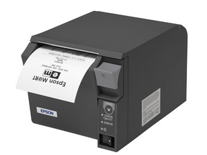 EPSON, TM-T70II, FRONT LOADING THERMAL RECEIPT PRINTER, ENERGY STAR COMPLIANT, PARALLEL AND USB, EPSON DARK GRAY, POWER SUPPLY INCLUDED, REQ CABLE