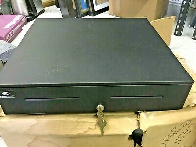APG, S4000, 1816, CASH DRAWER, MULTIPRO 24V, BLACK, PAINTED FRONT, 18X16, 2 MEDIA SLOTS, FIXED 5X5 TILL, REQUIRES CABLE