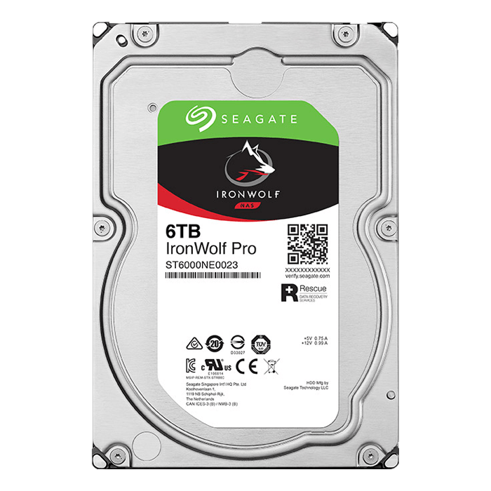 Seagate HDD ST6000NE0023 6TB 3.5 256MB SATA 6Gb/s Ironwolf Pro Bare