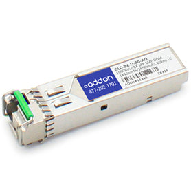 AddOn Cisco GLC-BX-U-80 Compatible TAA Compliant 1000Base-BX SFP Transceiver (SM