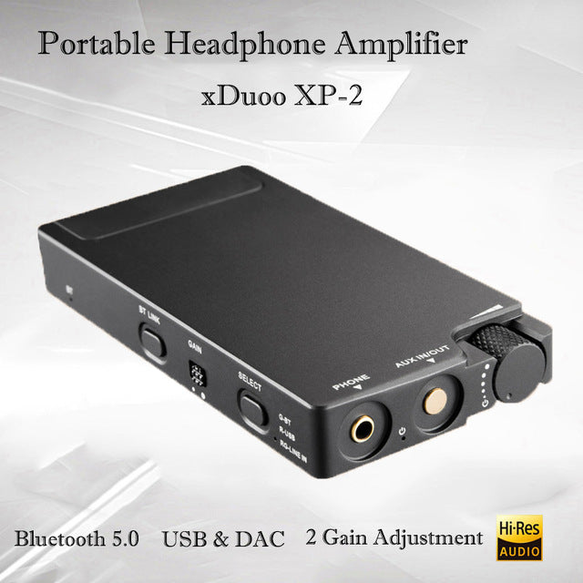 xDuoo Accessory XP-2 Portable Bluetooth and USB DAC Headphone Amplifier Black  Retail