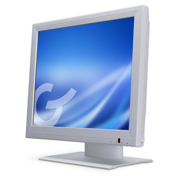 GVISION, MEDICAL-UL60601, 19IN LCD TOUCH SCN, DESKTOP, VGA+DVI, SXGA 1280X1024, 400 NITS, 1000:1 CONTRAST, 5-WIRE RESISTIVE-DUAL USB+SERIAL, SPKRS, 100MM VESA, MEDICAL WHITE, 90 DEGREE TILT STD