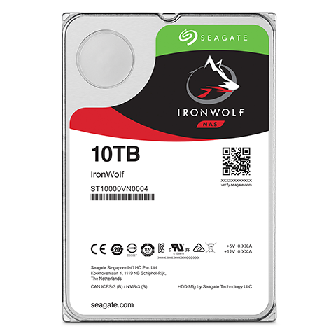 Seagate Hard Drive ST12000VN0007 12TB 3.5 inch 7200RPM 256MB SATA 6GB/s Ironwolf Bare