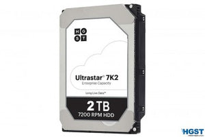 HGST Hard Drive 1W10002 2TB 3.5inch 128MB 7200RPM SATA 6Gb/s 512n Enterprise Hard Disk Drive HA210 Bare