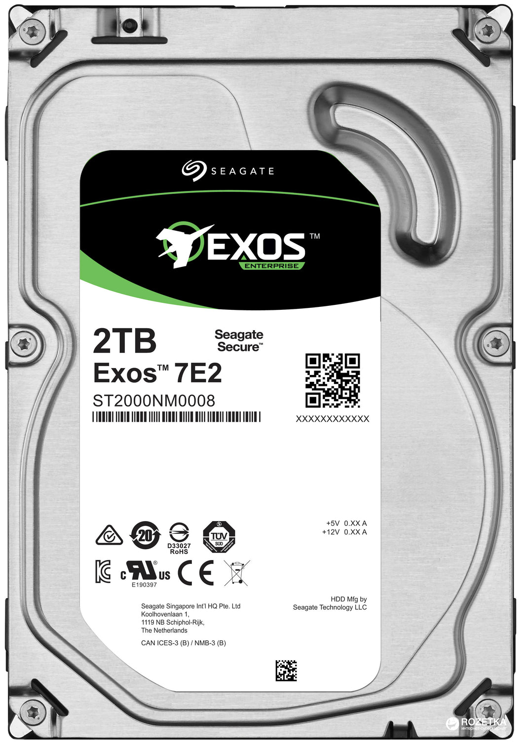 Seagate HDD ST2000NM0008 2TB 3.5 inch 7200RPM 128MB 6GB/s 512n Enterprise Bare