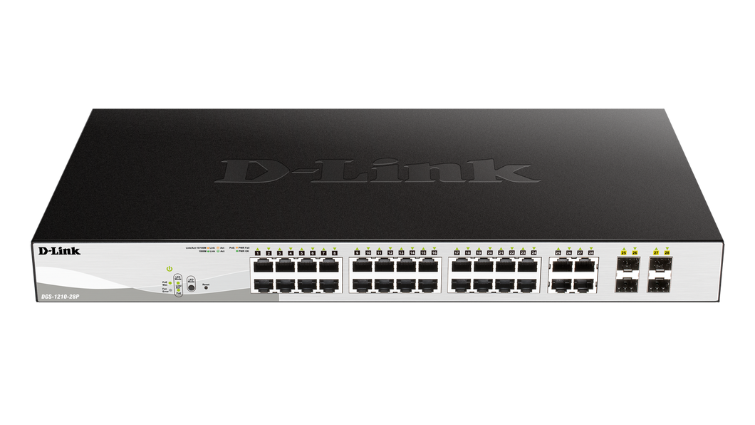 D-Link Network DGS-1210-28 24Port GbE Switch 4Port SFP WebSmart 10/100/1000 Retail