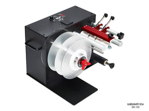 LABELMATE,HD LABEL SLITTER-REWINDER WITH TENSIONING LOOP. INCLUDES 2 FLANGES, 2 BLADES, AND 2 SP-76-220AL SEPARATOR PLATES. FOR USE W/UP TO 6 WIDE MEDIA