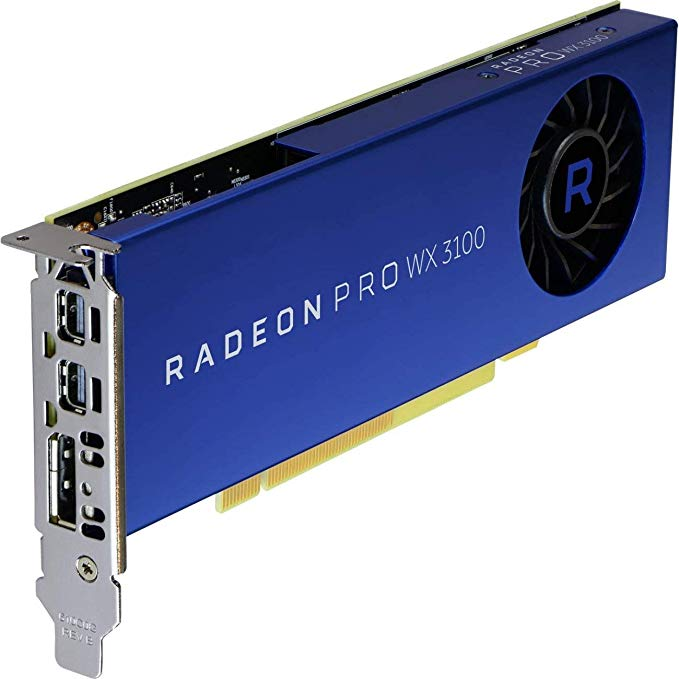 AMD Video Card 100-505999 Radeon Pro WX 3100 4GB GDDR5 10Bit PCI Express 2 x Mini-DisplayPort /DisplayPort Retail