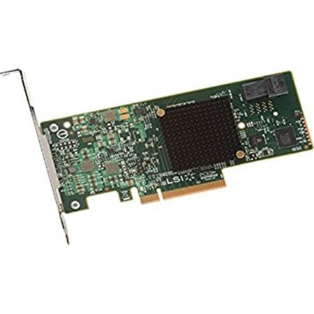 LSI Logic Controller Card 05-26105-00 MegaRAID 9341-4i Single 4Port SATA/SAS PCI Express 3 12Gb/s Low Profile Bracket Brown Box