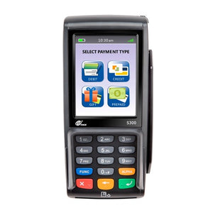 PAX, S300 COLOR TOUCHSCREEN, SEMI-INTEGRATION, STD HUB: MULTILANE RETAIL PAYMENT SOLUTION, CONTACTLESS, E-SIGNATURE, MSR, CHIP & PIN, PCI PTS 4.X, SRED, LOUDSPEAKER, 32-BIT ARM11 PROCESSOR, MEMORY