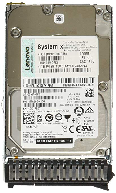 300GB 15K 12Gbps SAS 2.5in G3HS HDD