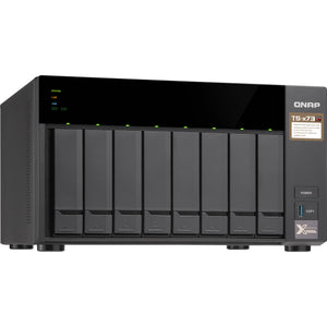 QNAP Network Attached Storage TS-873-8G-US 8Bay AMD RX-421ND Quad-core 8GB DDR4 8x2.5/3.5 10GbE Retail