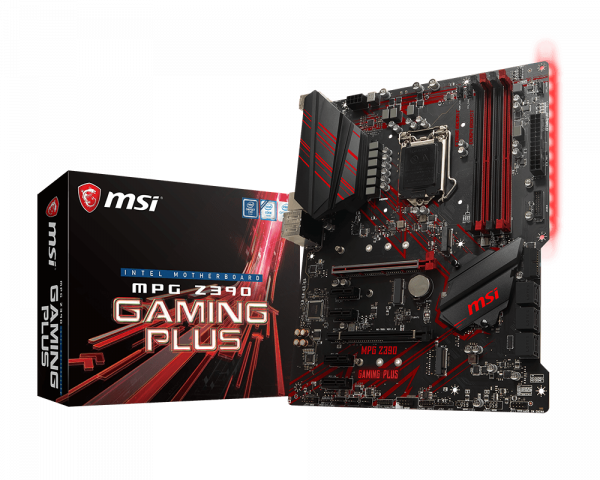 MSI Motherboard Z390GAMINGP MPG Z390 GAMING PLUS LGA1151 Core 9000 64GB DDR4 DVI HDMI PCI-Express ATX Retail