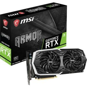 MSI Video Card G2070AR8C RTX 2070 ARMOR 8G OC GeForce RTX 2070 ARMOR 8GB 256Bit DisplayPortx3/HDMI/USB PCI Express Retail
