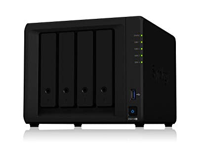 Synology Network Attached Storage DS918+ 4 bay DiskStation 1.5GHz 4GB Retail