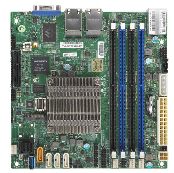 Supermicro Motherboard MBD-A2SDI-4C-HLN4F-B Intel Atom Mini-ITX PCI Express SATA USB Brown Box