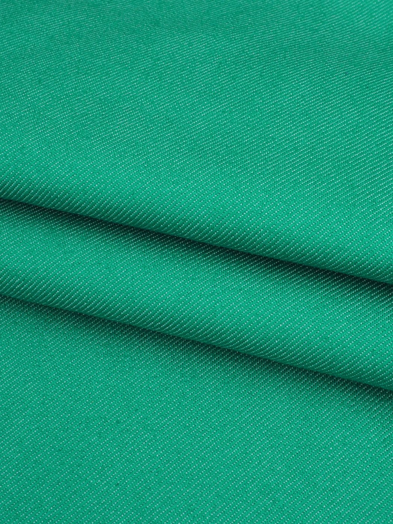 Organic Cotton & Recycled Poly Mid-Weight Stretched Fabric ( GP12644A Green Color )