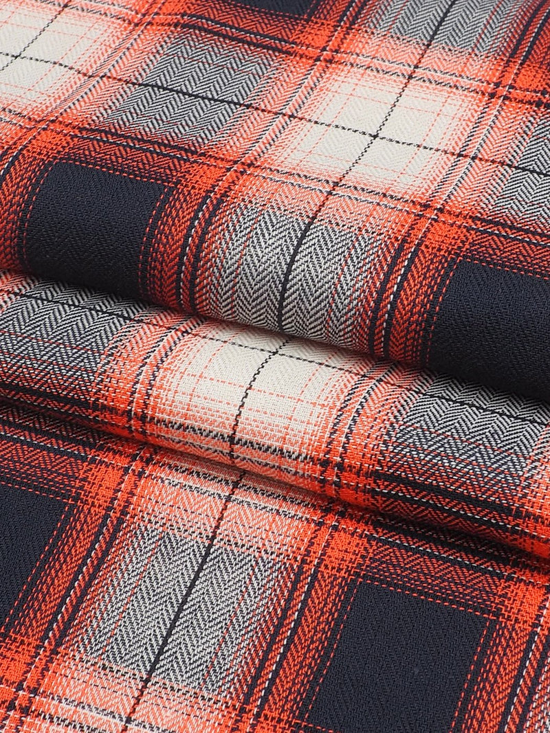 Pure Organic Cotton Light Weight Plaid Fabric ( OG14527 )