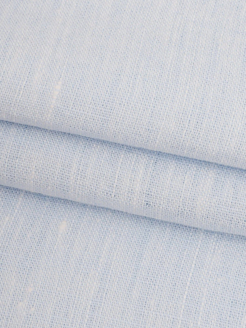 Pure Hemp Light Weight Yarn Dyed Fabric ( HE17091A Light Blue )