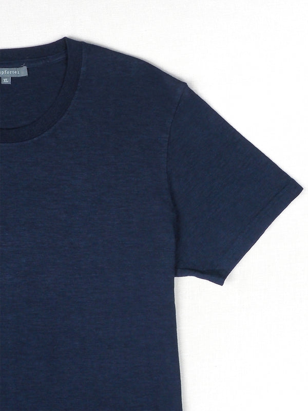 Hemp, Organic Cotton Large Size Men's Round Collar T-shirts ( 17SS002M )